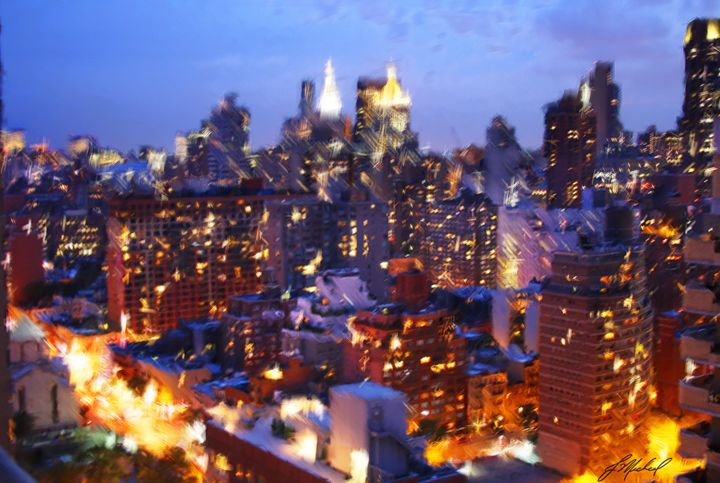 City Lights at Dusk - Jude Michael