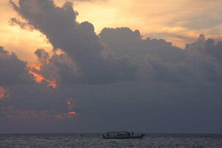 Fishermen at Sunset - Jude Michael