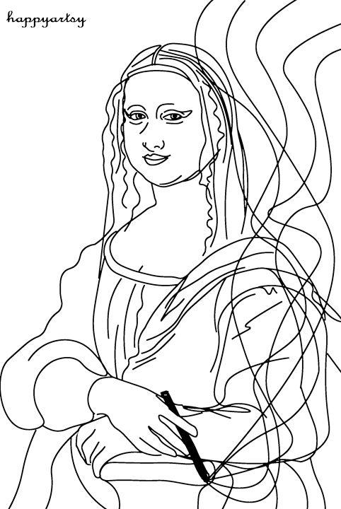 Mona Lisa Happy - Happyartsy