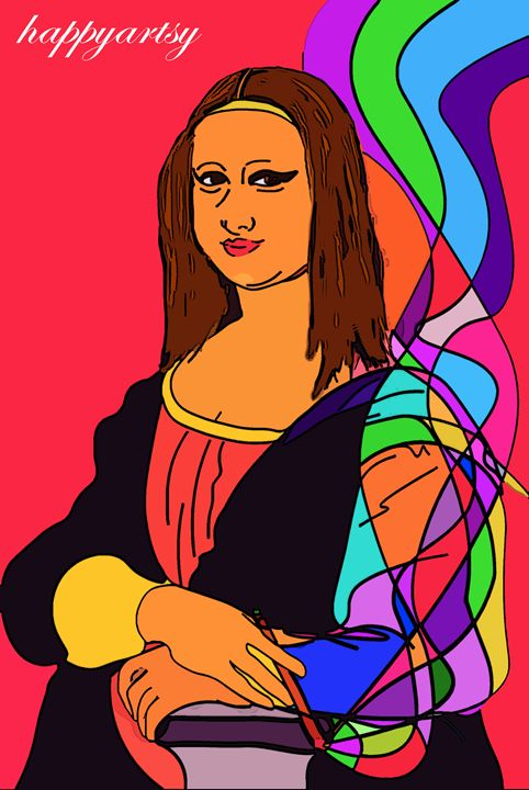 Happy Mona Lisa - Happyartsy