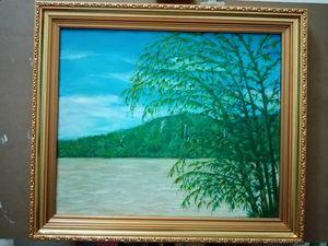 Riverfront rainforest.