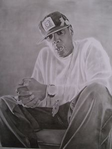 Pencil Drawing of Jay Z
