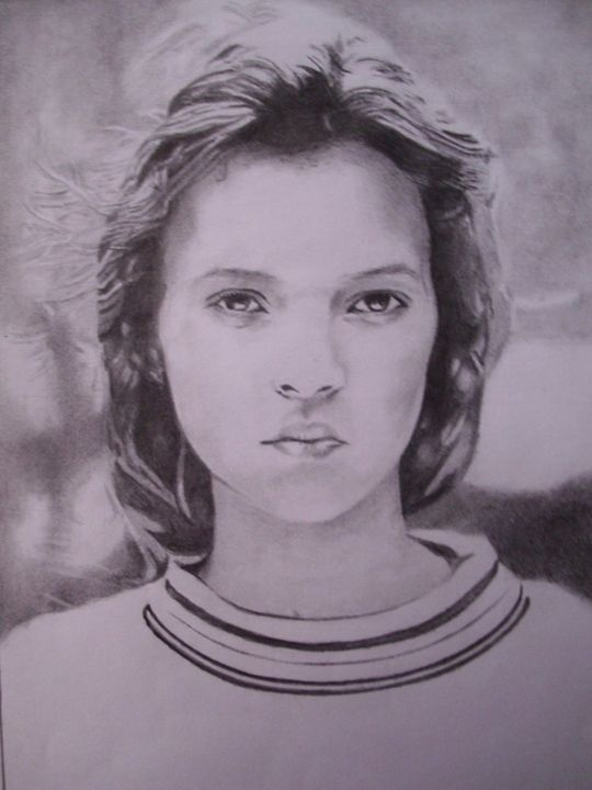 Pencil Drawing of Kate Moss - treasuregem.artpages