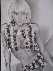 "Pencil Drawing of ""Lady GaGa"""