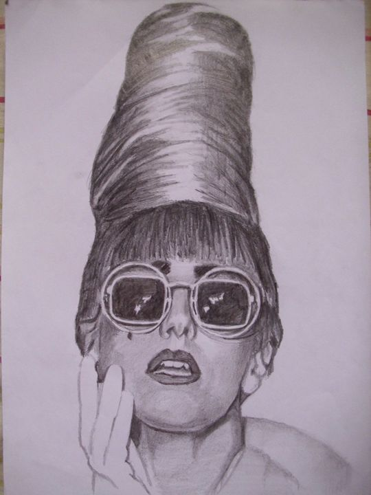 "Pencil Drawing of ""Lady GaGa"" - treasuregem.artpages"