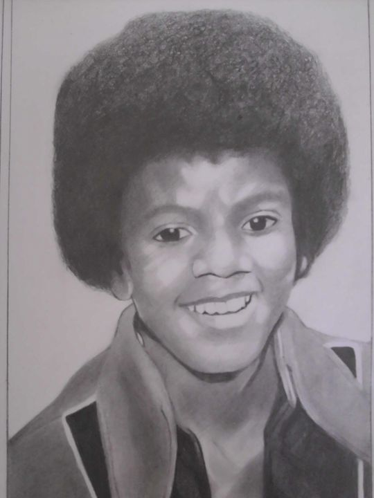 Pencil Drawing of Michael Jackson - treasuregem.artpages