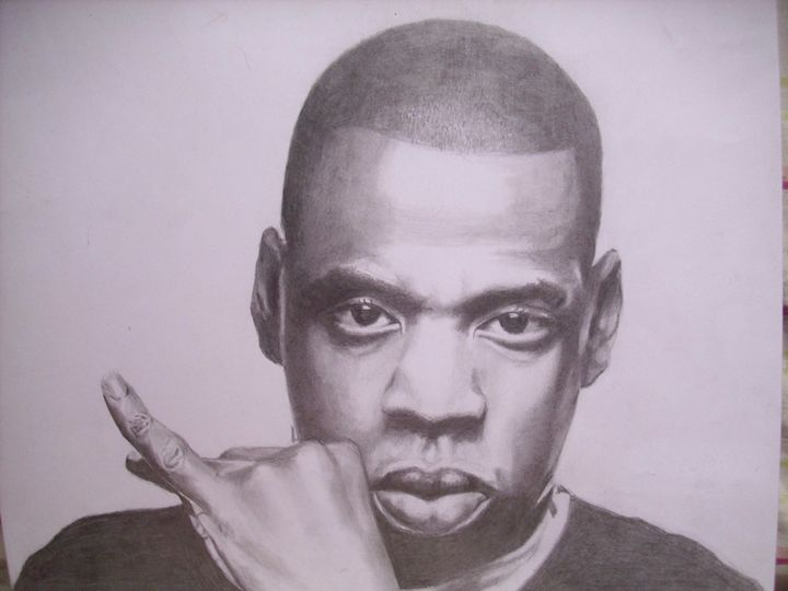 Pencil Drawing of Jay Z - treasuregem.artpages