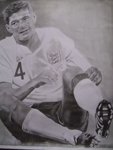 Pencil Drawing of Steven Gerrard