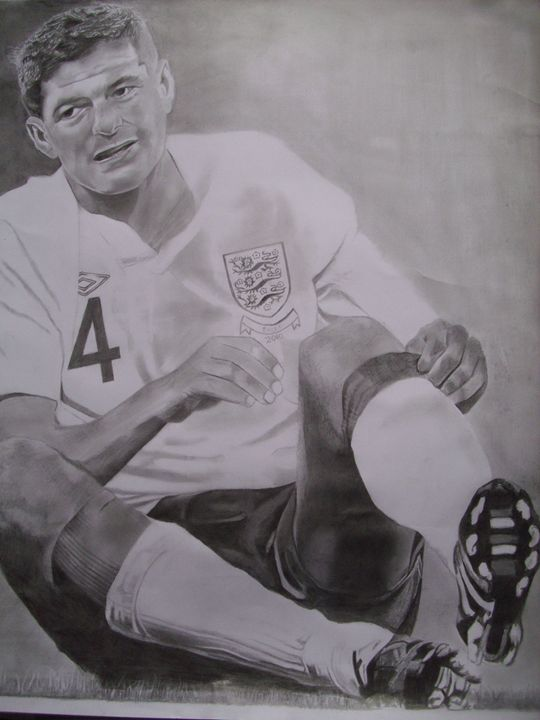 Pencil Drawing of Steven Gerrard - treasuregem.artpages