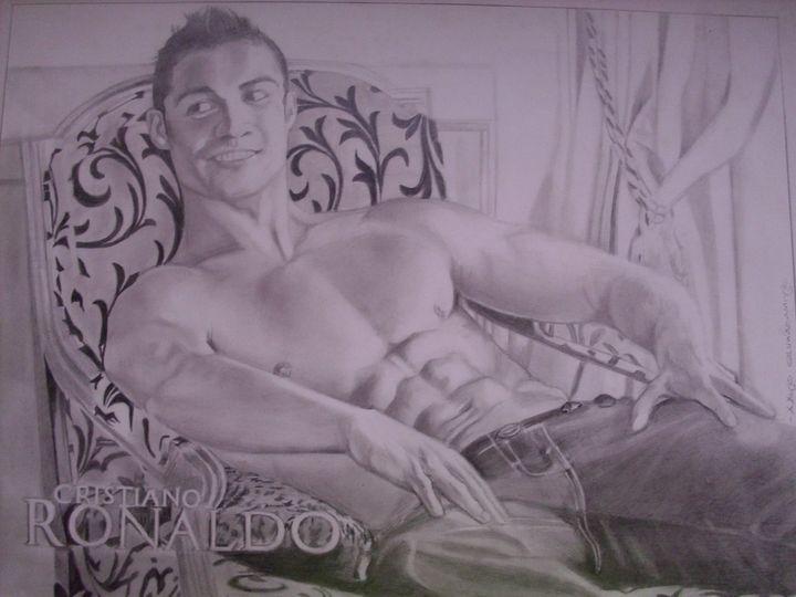 Pencil Drawing Of Cristiano Ronaldo - treasuregem.artpages
