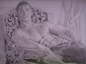 Pencil Drawing Of Cristiano Ronaldo
