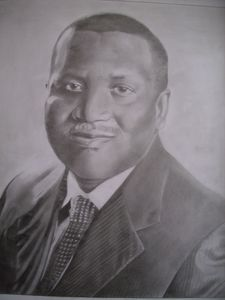 Pencil Drawing Of Aliko Dangote GCON