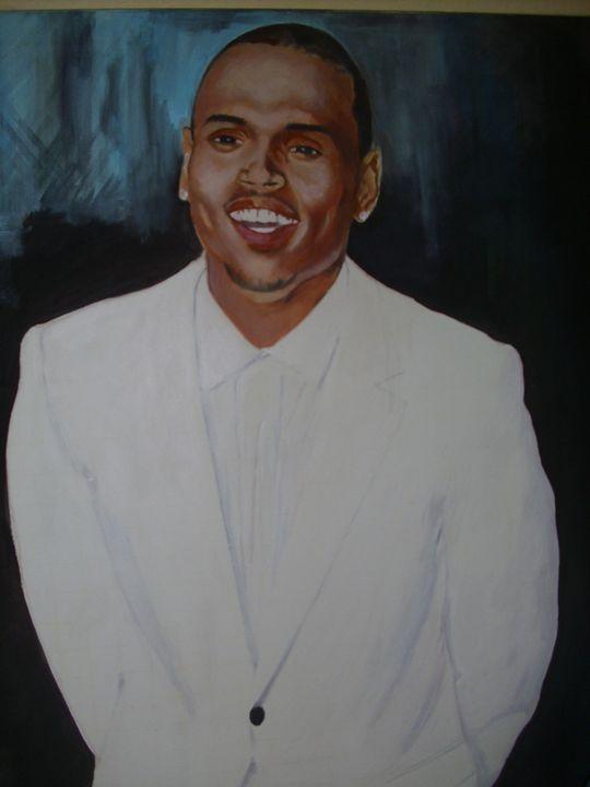 Artistic Portrait of Chris Brown - treasuregem.artpages