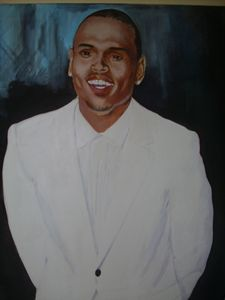 Artistic Portrait of Chris Brown