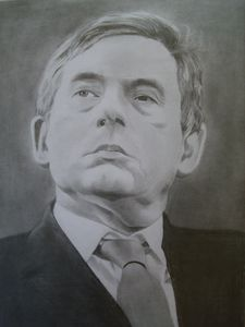 Pencil Drawing Of Gordon Brown