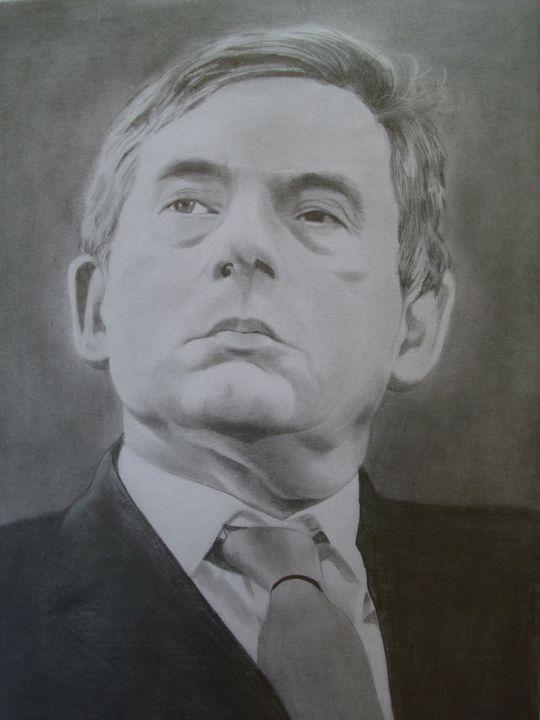 Pencil Drawing Of Gordon Brown - treasuregem.artpages