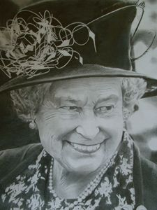 Pencil Drawing of Queen Elizabeth