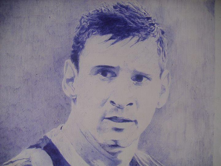 Artistic Pen Drawing Of Lionel Messi - treasuregem.artpages