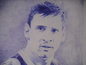 Artistic Pen Drawing Of Lionel Messi