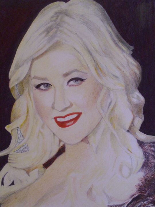 Portrait of Christina Aguilera - treasuregem.artpages