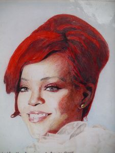 Colored Pencil Drawing Of Rihanna