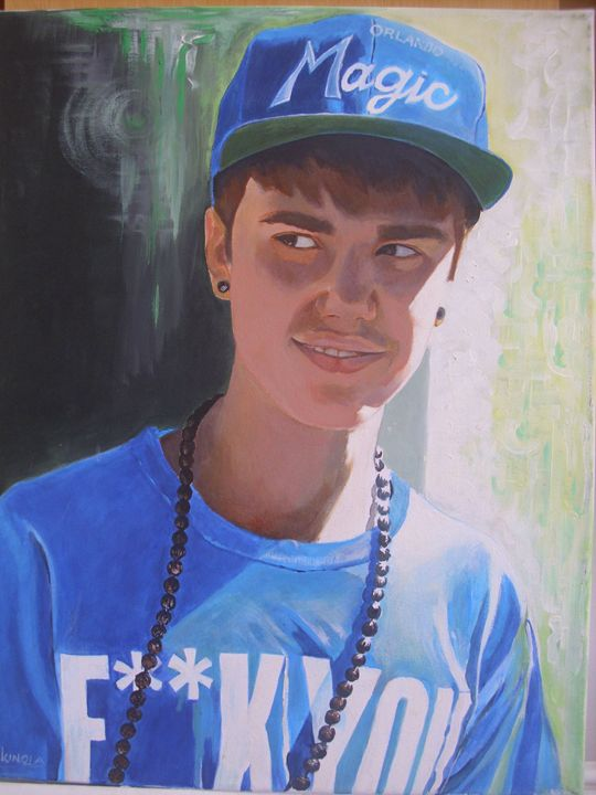 Artistic portrait of Justin Bieber - treasuregem.artpages