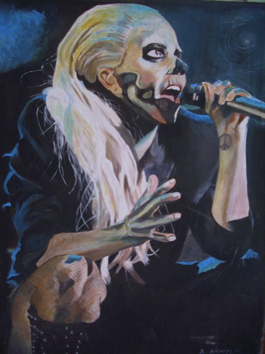 Artistic Portrait of Lady Gaga - treasuregem.artpages