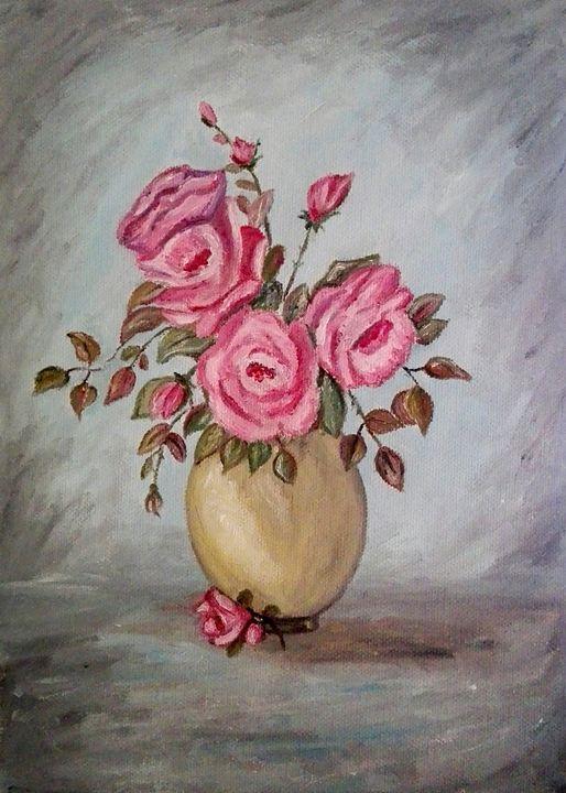 PINK ROSES - Jana ART