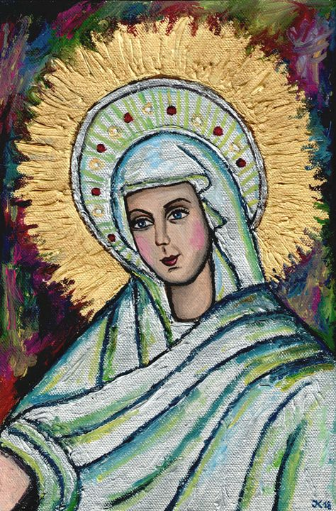 Beautiful icon of the Virgin Mary - Jana ART