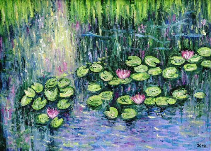 Water lilies oil painting - Jana ART