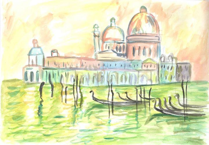 Venezia aquarel painting - Jana ART