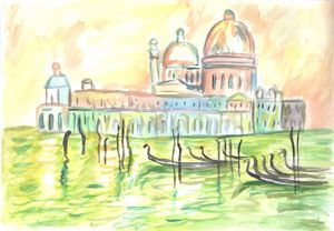 Venezia aquarel painting