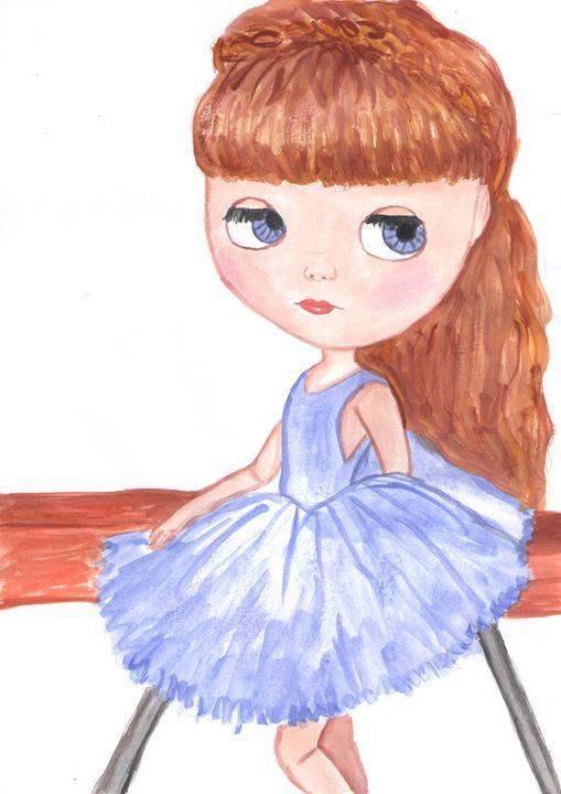 Ballerina watercolor painting - Jana ART
