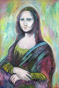 MONA LISA Pop art oil on canvas