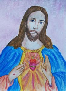 Jesus Christ watercolor painting