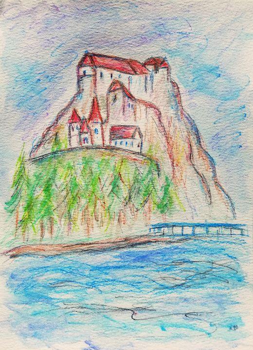 Orava Castle, Slovakia painting - Jana ART