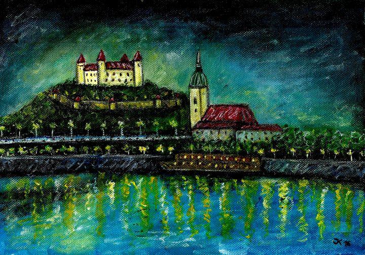 Bratislava, original  22x30 cm - Jana ART