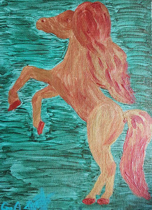 Golden horse - ArtAnnaGogoleva