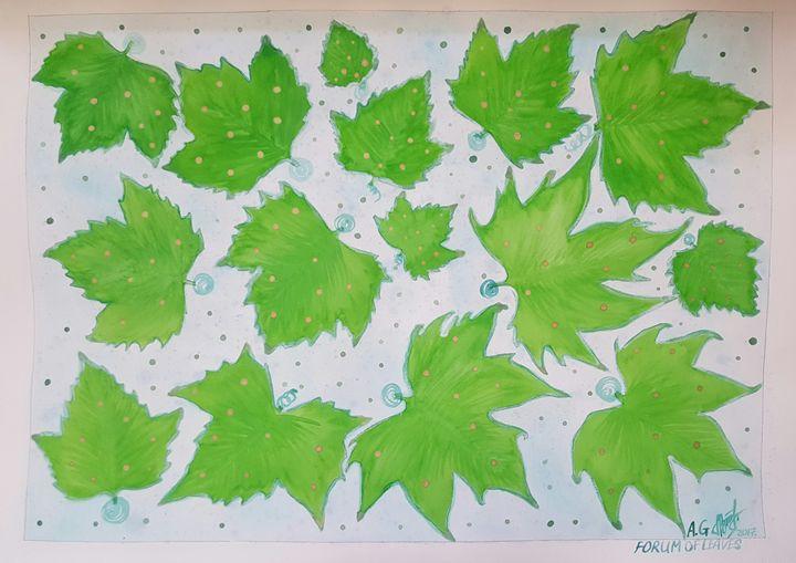 Forum of leaves - ArtAnnaGogoleva