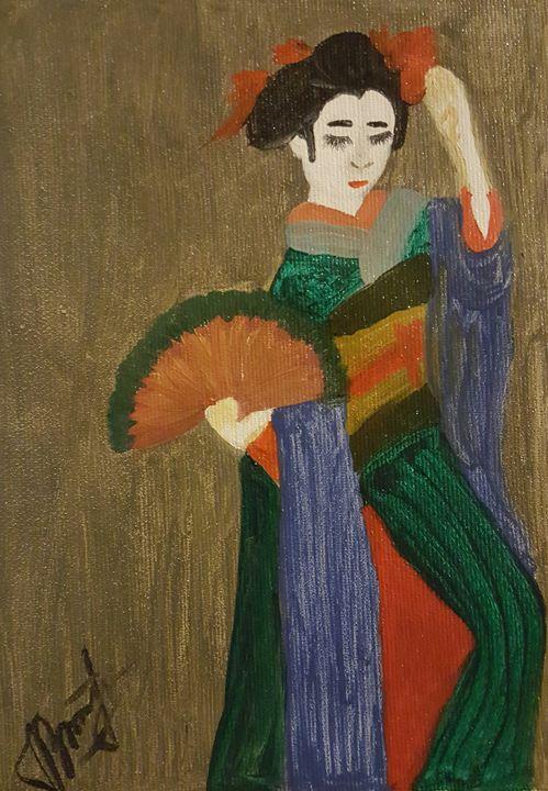 Geisha dancing - ArtAnnaGogoleva