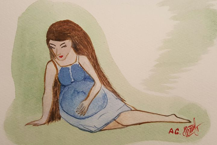 Pregnant women new mama - ArtAnnaGogoleva