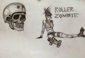Roller zombie girl