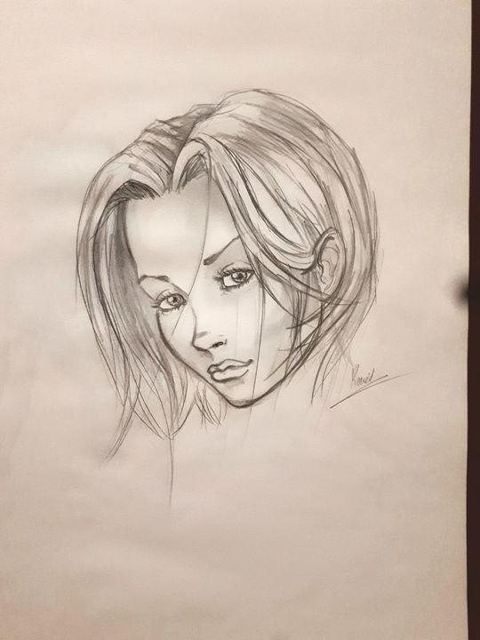 Esquisse femme - Koned Drawing