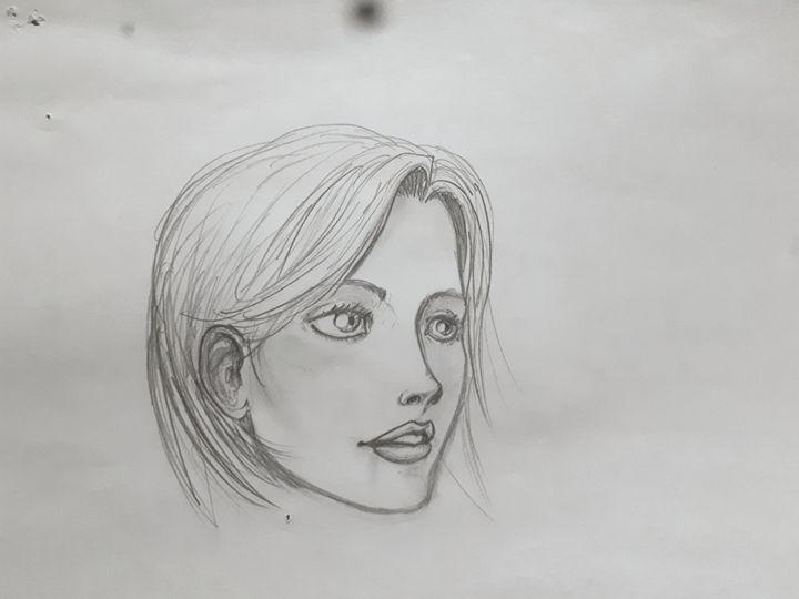 Beautiful woman smile - Koned Drawing