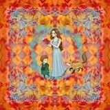 36x36 inch print on Real Silk