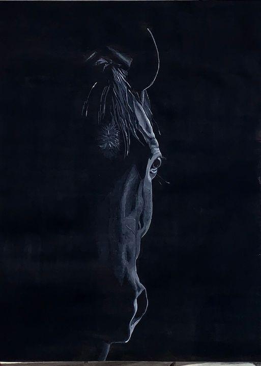 Horse in Shadow - Frances Wood Art