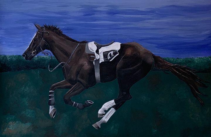 Lost Rider - Frances Wood Art