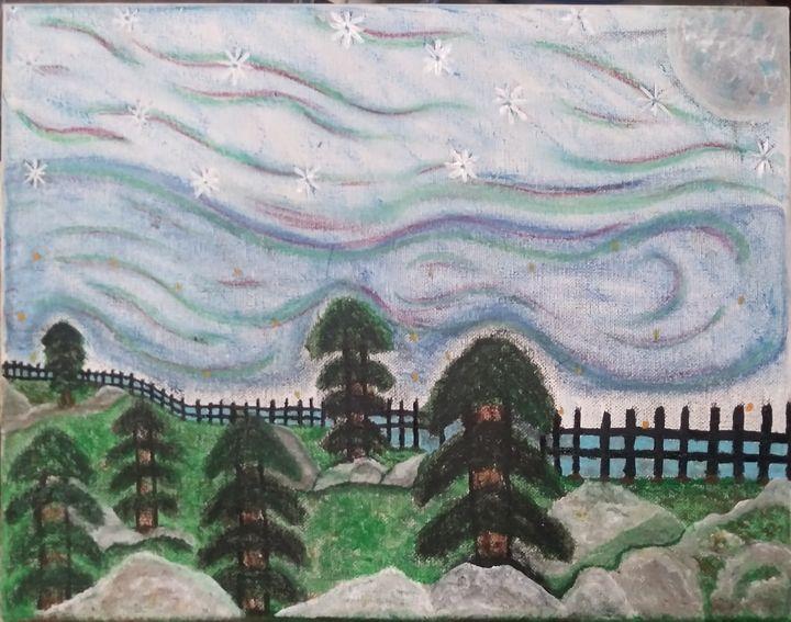 The night light - My Journey to Art School