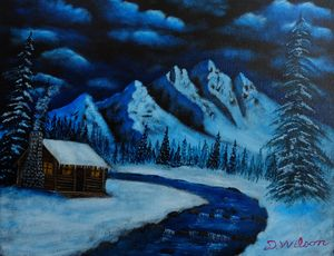 Cabin in the Snowy Mountains