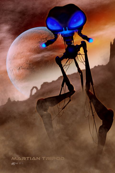 Martian Tripod - The Art of Erik Stitt